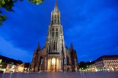 Free Ulm Munster At Night Royalty Free Stock Image - 25004286