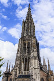 Ulm Munster. Cathedral or Munster of Ulm, Germany, with Europe's highest spire Stock Photos