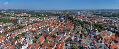 Panorama of Ulm and Neu-Ulm from Ulm Minster, Germany Stock Images