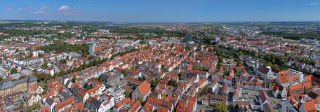 Panorama of Ulm and Neu-Ulm from Ulm Minster, Germany Royalty Free Stock Photos