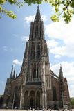 Ulm's cathedral, Germany. The highest church tower in the world Stock Photo