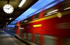 Ulm - at the station. Train platform at the main station in Ulm Stock Photo