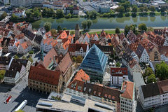 View on Ulm from the tower of Ulm Minster, Germany Royalty Free Stock Photos
