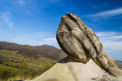 Ulmet Concretions named Trovants in Romania. Spectacular stone formations from Ulmet named trovants, located in Buzau County, Romania. concretion is a compact Royalty Free Stock Image