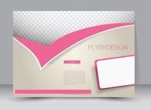 Ulotka, broszurka, okładka magazynu szablonu projekta krajobrazu orientacja Zdjęcia Royalty Free