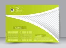 Ulotka, broszurka, okładka magazynu szablonu projekta krajobrazu orientacja Zdjęcia Stock
