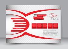 Ulotka, broszurka, okładka magazynu szablonu projekta krajobrazu orientacja Obrazy Royalty Free