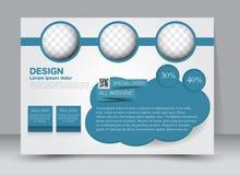 Ulotka, broszurka, okładka magazynu szablonu projekta krajobrazu orientacja Fotografia Stock