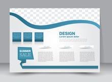 Ulotka, broszurka, okładka magazynu szablonu projekta krajobrazu orientacja Obrazy Stock