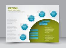 Ulotka, broszurka, okładka magazynu szablonu projekta krajobrazu orientacja Obraz Royalty Free