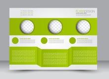 Ulotka, broszurka, okładka magazynu szablonu projekta krajobrazu orientacja Zdjęcie Stock
