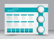Ulotka, broszurka, okładka magazynu szablonu projekta krajobrazu orientacja Zdjęcie Royalty Free