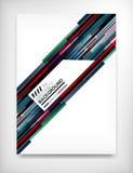 Ulotka, broszurka projekta szablon, układ Obrazy Royalty Free