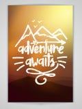 Ulotka lub broszura dla przygody Oczekujemy Obraz Royalty Free