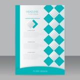Ulotka projekt, biznesowa broszurka Abstrakcjonistyczny wektorowy szablon w A4 rozmiarze Obraz Royalty Free