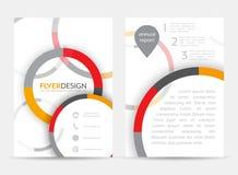 Ulotka projekt z kurenda wzorem Korporacyjny sztandar lub broszurka w A4 rozmiarze ilustracji