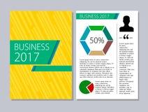 Ulotka projekta szablonu wektor Broszurka biznesowego magazynu raportowy plakat ilustracji