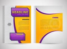 Ulotka szablon Biznesowa broszurka Zdjęcia Royalty Free