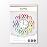 Ulotka szablon Okładkowy magazyn broszurka szablon Biznesowy Infographic również zwrócić corel ilustracji wektora Fotografia Royalty Free