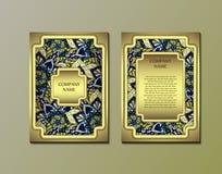 Ulotka szablon z abstrakcjonistycznym ornamentu wzorem Zdjęcie Royalty Free