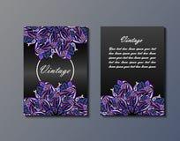 Ulotka szablon z abstrakcjonistycznym ornamentu wzorem Fotografia Stock