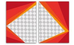 Ulotka szablonu broszurki szablonu szablonu sprawozdania rocznego Książkowej pokrywy strony układu ulotki broszury Letterhead Biz Zdjęcia Stock