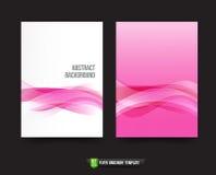 Ulotki broszurki tła szablonu 013 światło - różowa krzywa i wav Zdjęcie Royalty Free