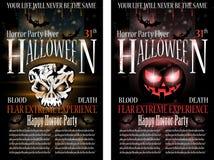 ulotki Halloween horroru przyjęcie Obraz Stock