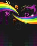 ulotki kolorowy przyjęcie ilustracja wektor