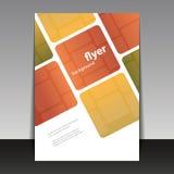 Ulotki lub pokrywy projekt z Abstrakcjonistycznym W kratkę wzorem Zdjęcia Royalty Free