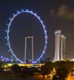 ulotki noc Singapore Zdjęcie Royalty Free