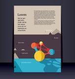 Ulotki ulotki broszury układ. Editable projekta szablon royalty ilustracja