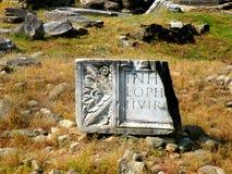 Ulpia Traiana Augusta Dacica Sarmizegetusa, precedente capitale di vecchia organizzazione statal rumena Fotografia Stock