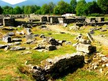 Ulpia Traiana Augusta Dacica Sarmizegetusa, tidigare huvudstad av den gamla romanian statal organisationen Royaltyfri Fotografi
