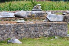 Ulpia Traiana Sarmizegetusa fördärvar Royaltyfria Foton