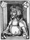 Ulrich von Hutten. (21 April 1488 – 29 August 1523), was a German scholar, poet and reformer, from an old woodcut published in Life of Luther by Julius Royalty Free Stock Photos