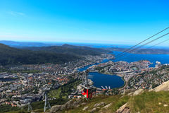 Ulriken Aerial tramway in Bergen Royalty Free Stock Photos