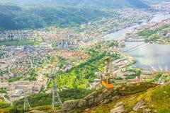 Ulriken berg Bergen Arkivbild