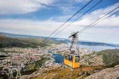 Free Ulriken Cable Railway In Bergen, Norway. Stock Photography - 129526842