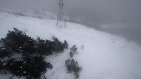 Ulriken. Descend by cable car from Mount ulriken in Bergen  Norway stock video footage