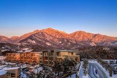 Ulsan bawi Rock in Seoraksan mountains in winter, Korea. Royalty Free Stock Photography