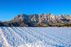 Ulsan bawi Rock in Seoraksan mountains in winter,Korea. Stock Image