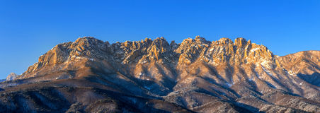 Ulsan bawi Rock in Seoraksan mountains in winter,Korea. Stock Photography