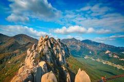 Ulsanbawi w Seoraksan parku narodowym Fotografia Royalty Free