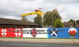 Ulster de Muurschildering van de Defensievereniging in Belfast Noord-Ierland Stock Fotografie