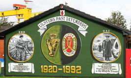Ulster Defence Association Mural  Belfast Northern Ireland. The Ulster Defence Association is the largest loyalist paramilitary terrorist group in Northern Royalty Free Stock Images