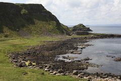 The Giant`s Causeway coast stock photography