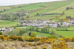 Ulster Village. A large rural village in the Antrim Glens region  of Northern Ireland (Ulster Stock Image