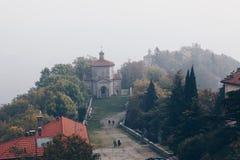 ultima cappella nel santuario santo di modo del Sacro Monte di Varese ITALIA fotografia stock