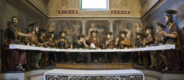 Ultima cena. Statues that represent the last supper of Jesus and Apostles Stock Photography